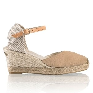 7f8329c857b COCO-NUT Ankle Strap Espadrille in Nude Suede | Russell & Bromley