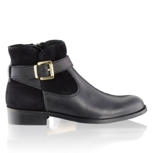 3a309d046d3 JODHPUR Buckle Trim Ankle Boot in Black Leather   Russell & Bromley