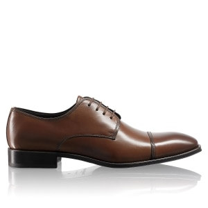 f5855c569c684 SPECTRUM Toe-Cap Derby in Tan Leather   Russell & Bromley
