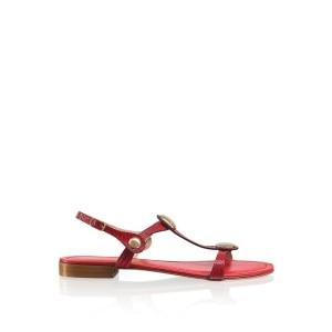 eb121e0b856546 Leather Sandals   Sliders