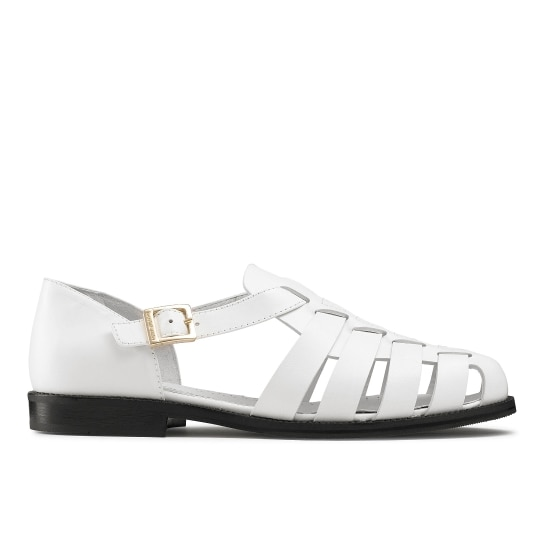 SIRACUSE white fisherman sandals russell & bromley