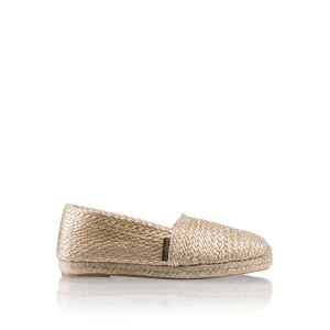e91b4828d50 CANDYCRUSH Eyelet Trim Espadrille in Metallic Leather | Russell ...