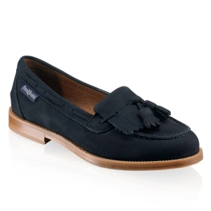 1b39c9b569d CHESTER Tassel Loafer in Blue Nubuck | Russell & Bromley