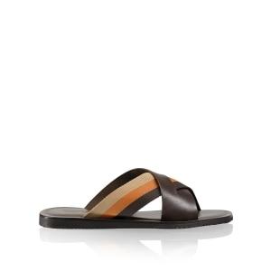1b1cede8d Men s Leather Sliders   Toe-Post Sandals